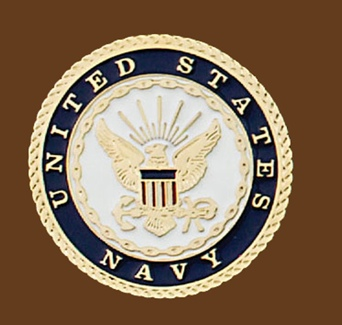 United States Navy Belt Buckle Round 2-3/4 x 2-3/4