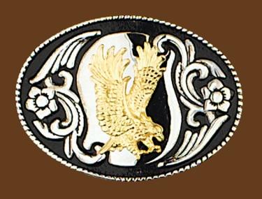 Eagle Wings Up Belt Buckle 3-1/2 x 2-1/2
