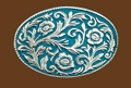 Turquoise Scrolled Belt buckle 4 x 2-3/4