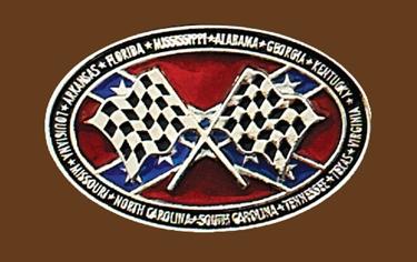 Checkered Flag Rebel Belt Buckle 3-3/4 x 2-1/4