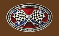 Checkered Flag Rebel Belt Buckle 3-3/4 x 2-1/4
