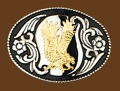Eagle Wings Up Belt Buckle 3-1/2 x 2-1/2