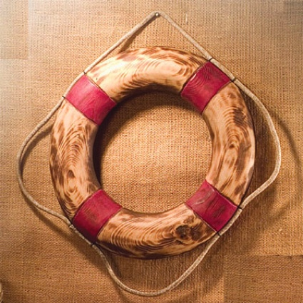 12 Inch Wooden Nautical Life Ring