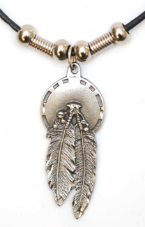Concho & Feather Necklace