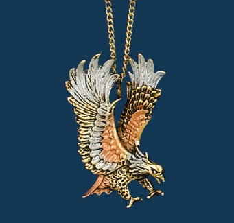 Necklace/Tricolor Eagle