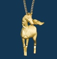 Necklace/Horse/Gold