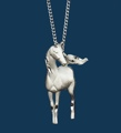 Necklace/Silver/Horse
