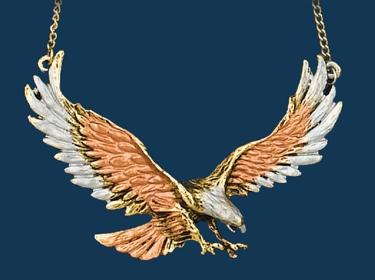 Necklace/Eagle/Tri-color