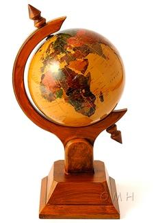 Imitation ivory gemstone globe 220mm single stand