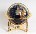 Lapis globe 330mm 4 legged stand gold