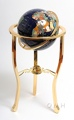 Lapis globe 330mm 3 legged high stand gold stand