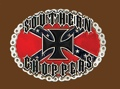 SOUTHERN CHOPPERS rebel flag pewter belt buckle 3-1/4