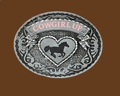 Cowgirl Up Belt Buckle 3-1/2 x 2-3/4