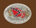 Confederate States Wavy flag Belt Buckle 4 x 3