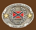Confederate States Wreath/2 stars Belt Buckle 3-3/4 x 2-3/4