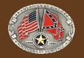 American By Birth/Southern By Heritage Belt Buckle 4 x 3z