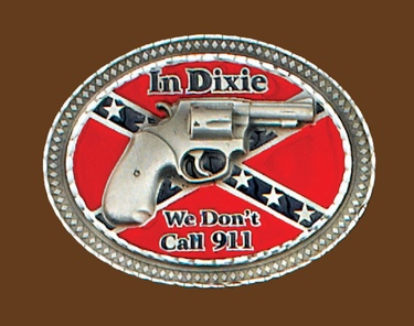 We Dont Call 911 Belt Buckle 4 x 3
