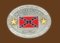 Mississippi Battle Flag Belt Buckle 4 x 3