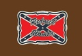 Redneck Woman (red/navy) Belt Buckle 3-1/2 x 2-1/4