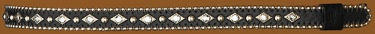 Hatband/Black w/silver beaded edge & rhinestones