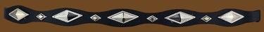 Black Hatband with Silver Diamond Shaped Conchos