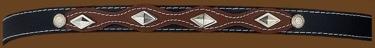 Black & Brown Hatband Diamond Shaped conchos