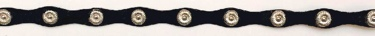 Black Leather Hatband with oval conchos