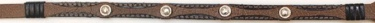 Hatband - Brown with 4 Silver Round Conchos NOT IN CATALOG