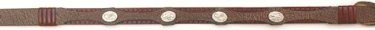 Brown Leather Hatband with 4 Oval Conchos