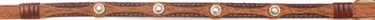 Rust & Brown Leather Hatband with 4 Round Conchos