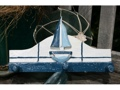Sailboat Hanger 12 White Blue Nautical Decor