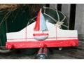 Sailboat Hanger 12 White Red Nautical Decor