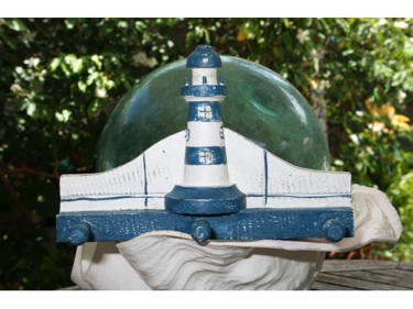Lighthouse Hanger 12 White Blue Nautical Decor