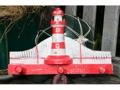 Lighthouse Hanger 12 White Red Nautical Decor