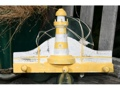 Lighthouse Hanger 12 White Yellow Nautical Decor