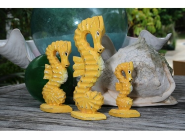 Hypo Camp Set Of 3 Yellow Coastal Beach Decor