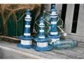 Set Of 3 Lighthouses Rustic Blue Nautical Nautical Decor