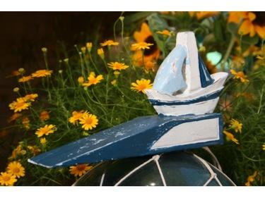 Sail Boat Door Stopper 4 Blue Nautical Decor