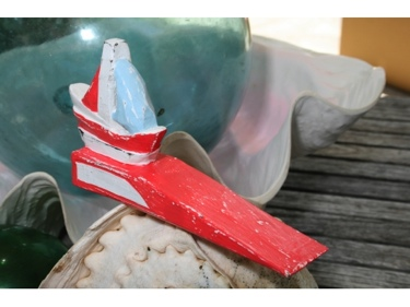 Sail Boat Door Stopper 4 Red Nautical Decor