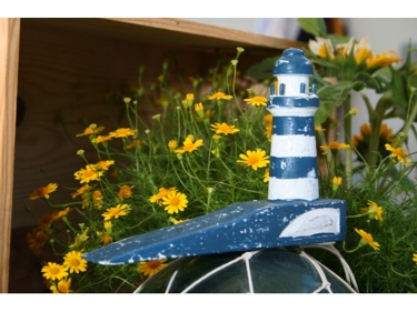 Lighthouse Door Stopper 4 Blue Nautical Decor