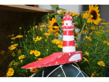 Lighthouse Door Stopper 4 Red Nautical Decor