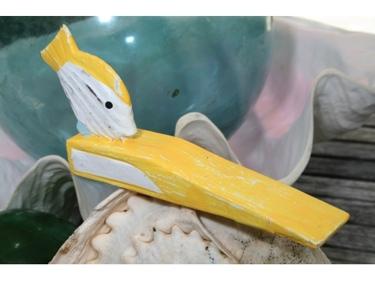 Fish Door Stopper 4 Yellow Nautical Decor