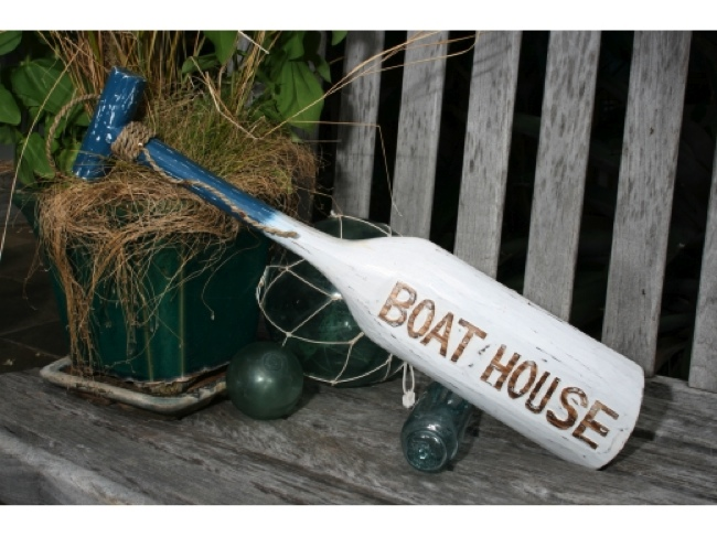 boat house paddle 22 blue nautical wall decor boating decor ort1701655b from. Black Bedroom Furniture Sets. Home Design Ideas
