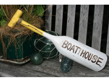 Boat House Paddle 22 Yellow Nautical Wall Decor