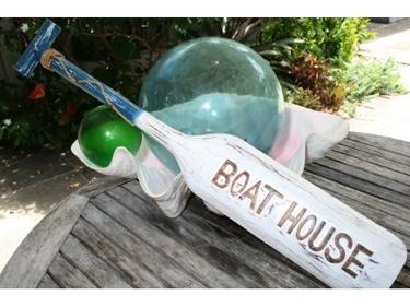 Boat House Paddle 32 Blue Nautical Wall Decor