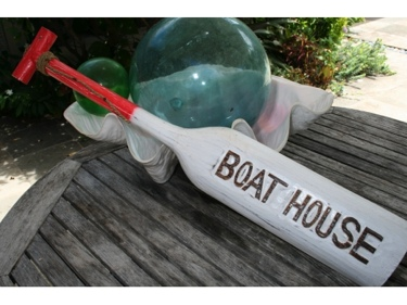 Boat House Paddle 32 Red Nautical Wall Decor
