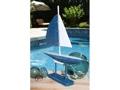 Racing Sail Boat Blue Nautical 20 Hand Carved Coastal Decor