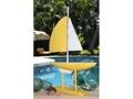 Racing Sail Boat Yellow Nautical 20 Hand Carved Coastal Decor