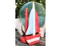 Sailboat Paper Towel Holder Red 16 Nautical Decor