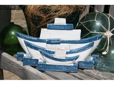 Nautical Napkins Letter Holder Blue 12 Nautical Decor